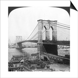 NY: Brooklyn Bridge, 1901 Poster