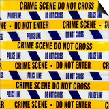 Crime Scene Tape Poster by Kevin Curtis