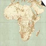 Map of Africa Posters by Mikkel Juul