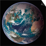 Planet Earth Western Hemisphere, NASA Satellite Composite Posters by  Stocktrek Images