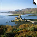Scotland, Highlands, Eilean Donan Castle, Elevated View Prints by Roy Rainford