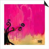 Magenta Tree Poster by Natasha Wescoat