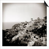 Polaroid of View of the Village of Oia, Santorini, Cyclades, Greek Islands, Greece, Europe Poster by Lee Frost