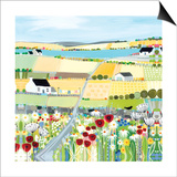 Bright Meadow Poster by Janet Bell
