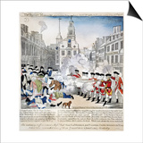Boston Massacre, 1770 Prints by Paul Revere