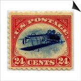 24-cent Curtis Jenny Invert Stamp Poster