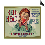 Fruit Crate Labels: Red Head Apples; Distributed by Smith and Holden, New York Prints