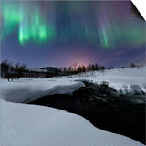 Aurora Borealis over Blafjellelva River in Troms County Prints by  Stocktrek Images