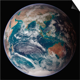 Planet Earth Eastern Hemisphere, NASA Satellite Composite Prints by  Stocktrek Images