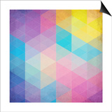 Colorful Abstract Triangles Poster by  art_of_sun