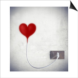Heart Attached To A Socket Prints by  olly2