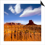 Dreamcatcher Monument West Mitten Butte Morning With Navajo Indian Crafts Utah Prints by  holbox
