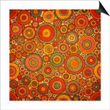 Vintage Circle Pattern Poster by  Yaviki