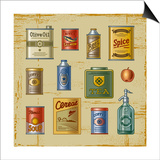 Retro Grocery Set Prints by Oleg Iatsun