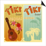 Two Cards For Tiki Bars Poster by  elfivetrov