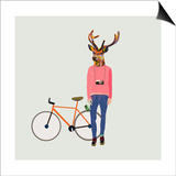 Fashionable Hipster Deer Poster by  run4it