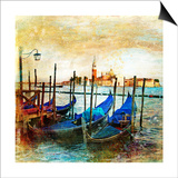 Mystery Of Venice - Artwork In Painting Style Art by  Maugli-l