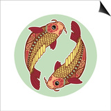 Zodiac Signs - Pisces Prints by  krasstin