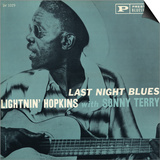 Lightnin' Hopkins - Last Night Blues Prints