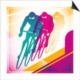 Illustrated Bicycle Driving In Color Poster van  Rashomon