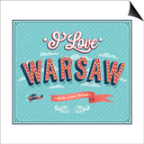 Vintage Greeting Card From Warsaw - Poland Poster by  MiloArt