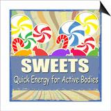 Sweets Vintage Grunge Poster Prints by  radubalint