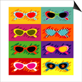 Collection Of Pop Art Sunglasses Posters by  UltraPop