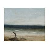 The Seashore at Palavas, 1854 Print by Gustave Courbet