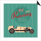 Vintage Sport Racing Cars Poster by vector pro