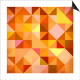 Abstract Triangles Grunge Posters by  art_of_sun