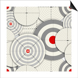 Seamless Background Of Targets Prints by  tovovan