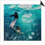 Girl As Mermaid Posters by  bezik