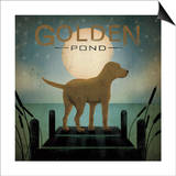 Moonrise Yellow Dog Posters by Ryan Fowler