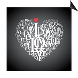 feoris - Heart Shape From Letters - Typographic Composition - Sanat