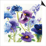 Blue and Purple Mixed Garden I Posters by Novak Shirley