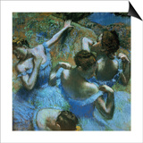 Dancers in Blue Posters by Edgar Degas