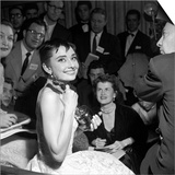 "Audrey Hepburn, 1953. 26th Annual Academy Awards, Best Actress for ""Roman Holiday"" Prints"