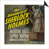 "Sherlock Holmes, 1939, ""The Adventures of Sherlock Holmes"" Directed by Alfred L. Werker Posters"