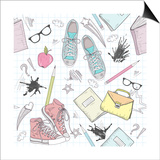 Cute School Abstract Pattern Prints by cherry blossom girl