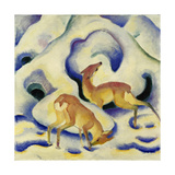 Rehe Im Schnee, 1911 Posters by Franz Marc