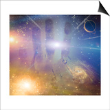 People Soaring Toward Light Amongst Stars Prints by  rolffimages