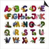 Animal Alphabet Affiches par  chaikades
