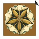 Small Floral Mandala on Caramel IV Prints by Erica J. Vess