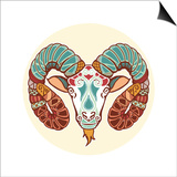 Zodiac Signs - Aries Prints by  krasstin