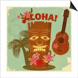 Vintage Hawaiian Postcard Posters by  elfivetrov