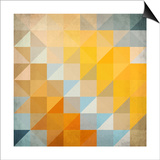 Abstract Triangles Geometry Posters by  art_of_sun