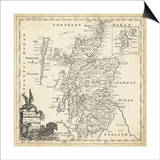 Map of Scotland Prints by T. Jeffreys
