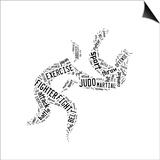 Judo Pictogram On White Background Prints by  seiksoon