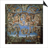 The Last Judgement, 1534-41 Posters by  Michelangelo Buonarroti