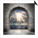 Way To New World. New Life Concept - Light Over Water Prints by  Kletr